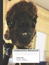 Alpaca Composition Notebook