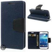 Goospery Sonata Leather case hoesje Samsung Galaxy S5 Blauw