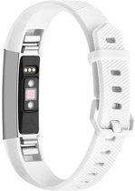 By Qubix Siliconen bandje - Fitbit Alta (HR) - Wit - Large