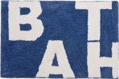 Sealskin Littera - Badmat - 60x90 cm - Blauw