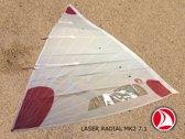 Ventoz Laser Standard MK2 Zeil COMPLEET - Rode Patches (7.1 m2)