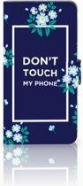 Huawei Mate 8 Boekhoesje Flowers Blue DTMP