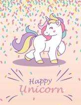 Cute Unicorn #16, Unicorn presents for a 4-year-old kid, Sketch Book for kids, Birthday Unicorn Gift for Girls: 8.5'' x 11'', Large Size, Black & White