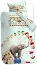 Beddinghouse Kids Circus - kinderdekbedovertrek- eenpersoons - 140x200/220 - Multi