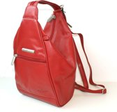 Bear Design rugzak / schoudertas leer rood 5555