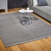 Wollen Vloerkleed - Industrieel Scandinavisch Design - Modern Vloer Tapijt - Grijs 170x230 Groot