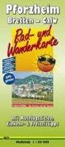 Pforzheim - Bretten - Calw Rad- und Wanderkarte 1 : 50 000