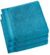 De Witte Lietaer  Contessa –  Badhanddoek 50x100 cm - set van 3 - ocean blue