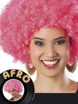12 stuks: Pruik Afro - Neon Roze