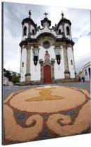 Kerk Brazilie  Aluminium 80x120 cm - Foto print op Aluminium (metaal wanddecoratie)