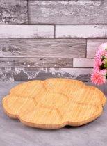 Bamboe snack en tapasschaal met een draaibodem