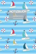 Notizbuch A5 Muster Boote Boot Meer See Seefahrt Kapit�n Capitan Anker: - 111 Seiten - EXTRA Kalender 2020 - Einzigartig - Liniert - Linie - Linien -