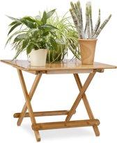 relaxdays - bijzettafel inklapbaar bamboe - klaptafel - balkontafel campingtafel
