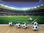 Fotobehang Voetbalstadion | Groen | 208x146cm
