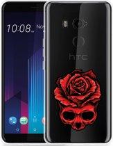 HTC U11 Plus Hoesje Red Skull