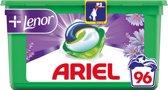 Ariel 3in1 Pods Touch Of Lenor - Kwartaalbox 3 x 32 Wasbeurten - Wasmiddelcapsules