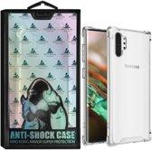 Anti-Shock TPU + PC voor Samsung Note 10 Plus - Transparant