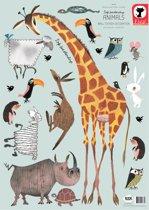 Muursticker set Fiep Westendorp: diverse dieren