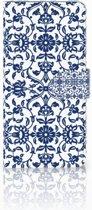 Huawei Mate 20 Uniek Boekhoesje Flower Blue