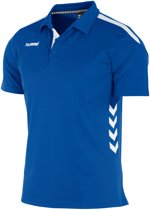 hummel Valencia Polo Sportpolo Kinderen - Royal/White