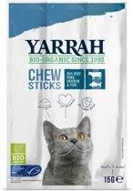 Yarrah biologische kauwstaafjes kat vis met zeewier en spirulina 15 gr