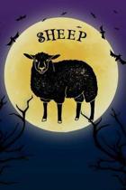 Sheep Notebook Halloween Journal