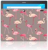 Lenovo Tab 10   Tab 2 A10-30 Uniek Tablethoesje Flamingo