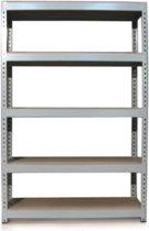 Q-Rax Grey Metal Shelving Units - 120cm x 180cm x 50cm