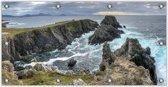 Tuinposter Rotsen in de Zee 200x100cm- Foto op Tuinposter (wanddecoratie voor buiten en binnen)
