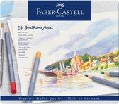 Aquarelkleurpotlood Faber-Castell Goldfaber etui 24 stuks