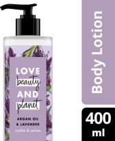 Love Beauty and Planet Body Lotion Soothe and Serene - 400 ml - Argan Oil & Lavender