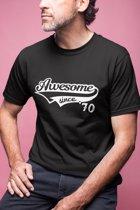 Abraham 50 jaar t-shirt / Awesome since 1969 / kado tip / Heren / cadeau / Sarah / MAAT XL