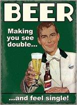 Grote muurplaat Beer single 30x40cm