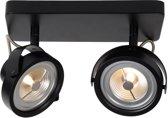 Lucide TALA LED - Plafondspot - LED Dimb. - G53 (AR111) - 2x12W 2700K - Zwart
