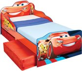 Peuterbed met lades - Cars - blauw/rood