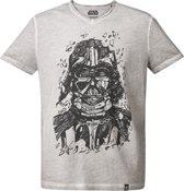 Star-Wars-T-shirt-met-korte-mouw-grijs-maat-L