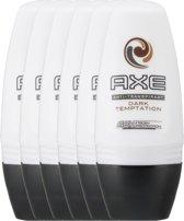Axe Dark Temptation For Men - 50 ml - Deodorant Roller - 6 stuks - Voordeelverpakking