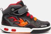 Geox - J 8447 C  - Lage sneakers - Jongens - Maat 28 - Zwart;Zwarte - C0048 -Black/Red
