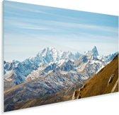 Uitzicht op de Mont Blanc vanaf de Champillon Plexiglas 90x60 cm - Foto print op Glas (Plexiglas wanddecoratie)