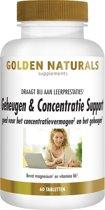 Golden Naturals Geheugen & Concentratie Support (60 vegetarische capsules)