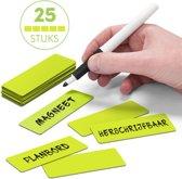 25 Whiteboard Magneten Balk 7,5 x 2,5 cm Groen - Herschrijfbaar