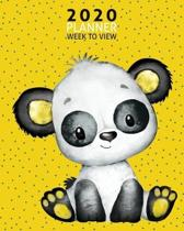 Baby Panda 2020 Week to View Planner: 2020 Planner Weekly and Monthly - Jan 1 to Dec 31