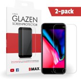 2-pack BMAX Glazen Screenprotector iPhone 8 plus