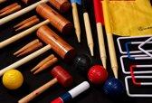 Engelse Tuin Croquet Set, prachtige originele set, 4-persoons-met Kist