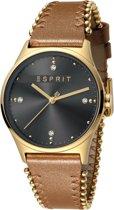 Esprit ES1L032L0035 horloge dames - bruin - edelstaal doubl�