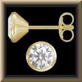 Schitterende 14 karaat gouden oorstekers van 5 mm