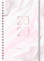 Planner Agenda - 2020 - A4(21x29,7cm) - GROOT - ringband - elastiek - D2