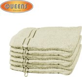 Queens® Washandje - 6-pack Washandjes 15x21 - 500 gr/m2 - Ivoor