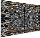 Schitterende vormen van de Titanic Belfast Plexiglas 40x30 cm - klein - Foto print op Glas (Plexiglas wanddecoratie)