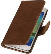 Bruin Hout Samsung Galaxy Core 2 Book/Wallet Case/Cover